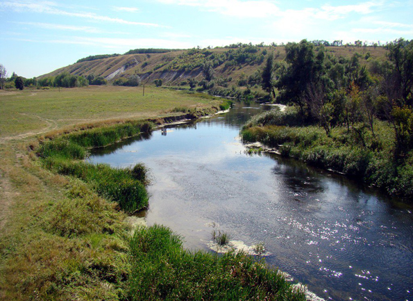 Image - The Aidar River in northern Luhansk oblast.