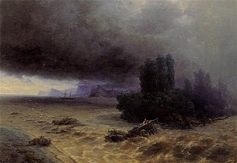 Image - Ivan Aivazovsky: Flood in Sudak (1897)