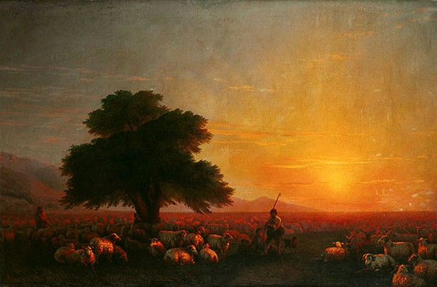 Image - Ivan Aivazovsky: A Herd of Sheep (1857).