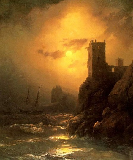 Image - Ivan Aivazovsky: A Tower. Shipwreck.