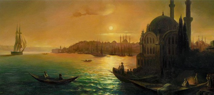 Image - Ivan Aivazovsky: A View of Constantinople.