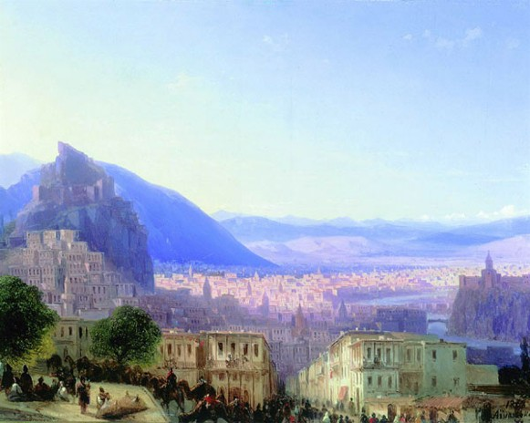 Image - Ivan Aivazovsky: A View of Tbilisi.