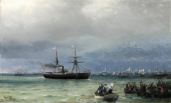 Image - Ivan Aivazovsky: The US Humanitarian Relief Ship (1892).