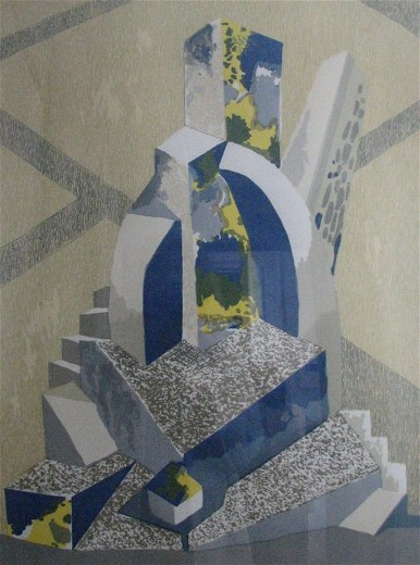 Image - Mykhailo Andriienko-Nechytailo: Composition with Stairs (1920).
