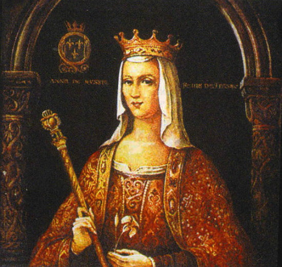 Image -- Portrait of Anna Yaroslavna as queen of France.