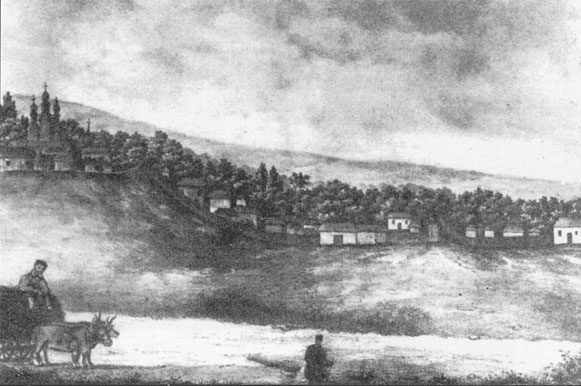 Image - Mykola Arandarenko: Lithograph of Porokhivka Kaniv region (after 1848).