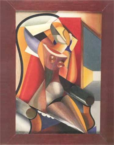 Image - Alexander Archipenko: Woman Before a Mirror (1916)