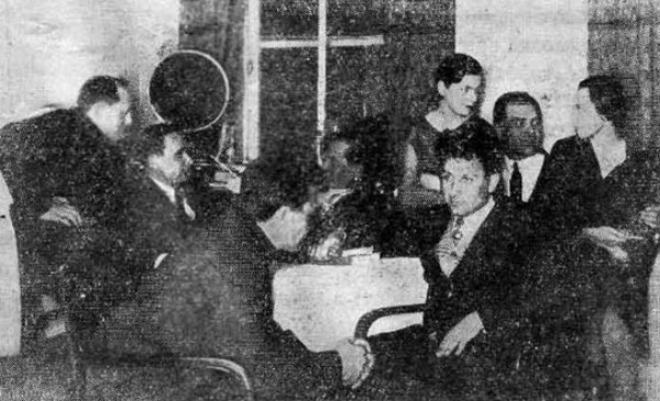 Image - The principal members of Avanhard (AvantGarde) (Kharkiv 1929).