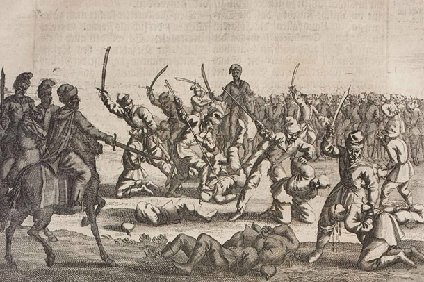 Image -- The Battle of Batih of 1652 (engraving).