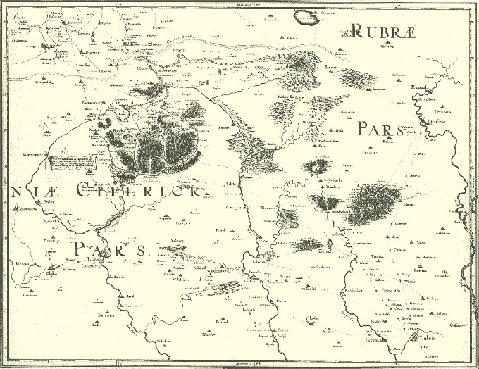 Image - A fragment of Beauplan's map of Ukraine (1650).