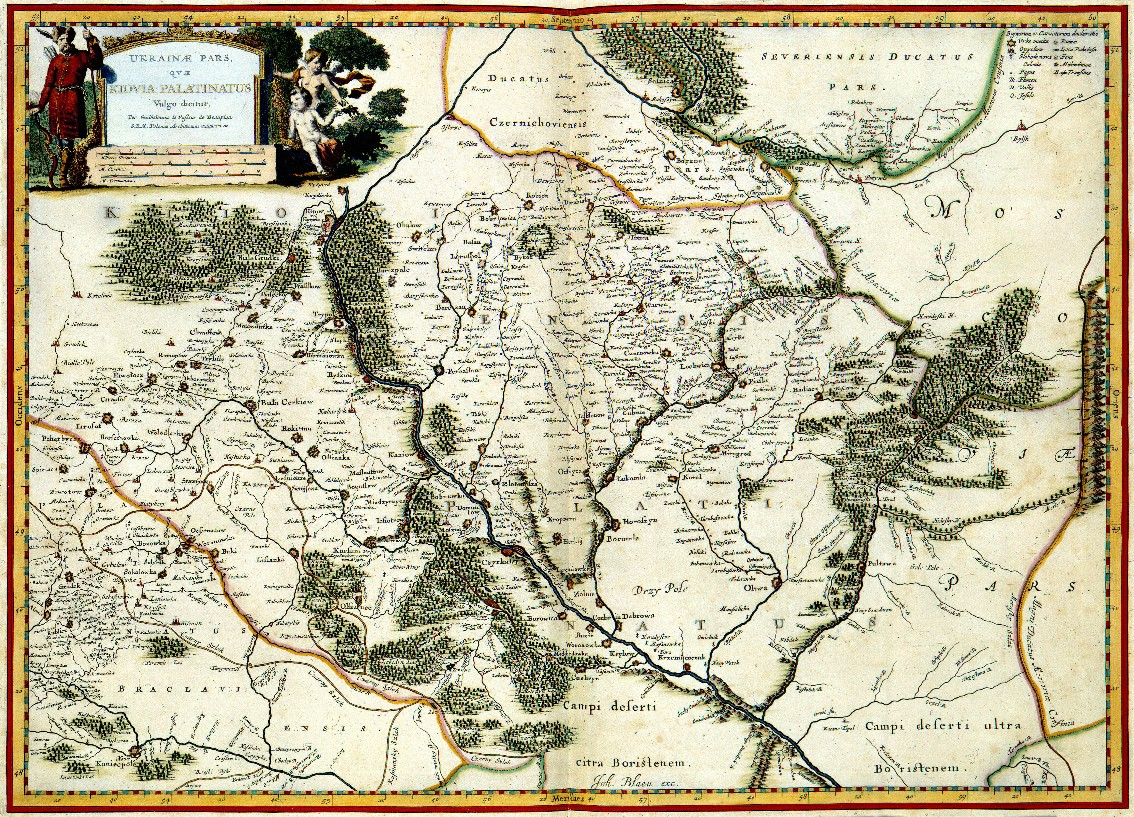 Beauplan's map of the Kyiv voivodeship.