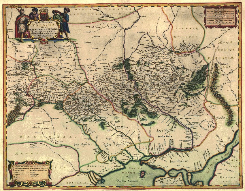 Image - Beauplans map of the Podilia and Kyiv voivodeships (1647).