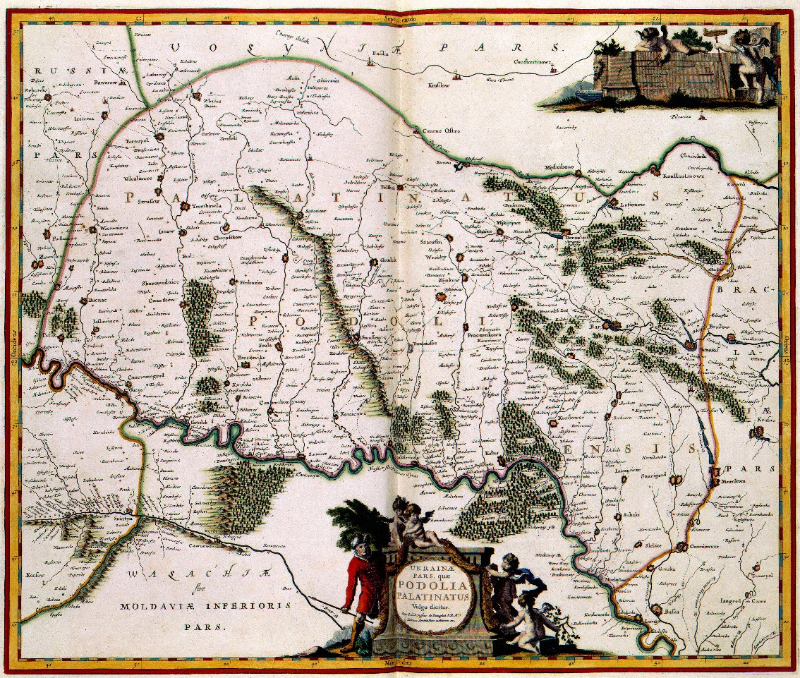 Beauplan's map of the Podilia voivodeship.