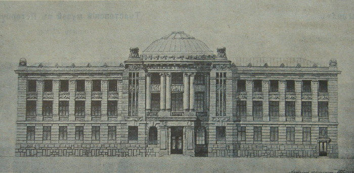 Image - Oleksii Beketov: plan of the Kharkiv Medical Society building.