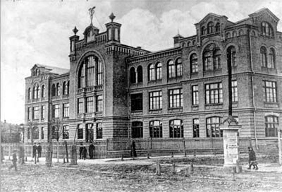 Image - Berdychiv: the building of the former commercial school (today: pedagogical college).