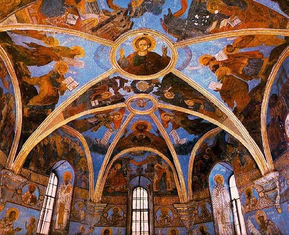 Image - Frescos of the Transfiguration Church in Berestove.