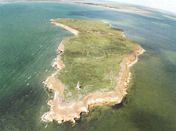 Image -- The Berezan Island (aerial view).