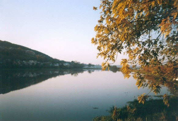 Image - The Berezhany lake on the Zolota Lypa River.