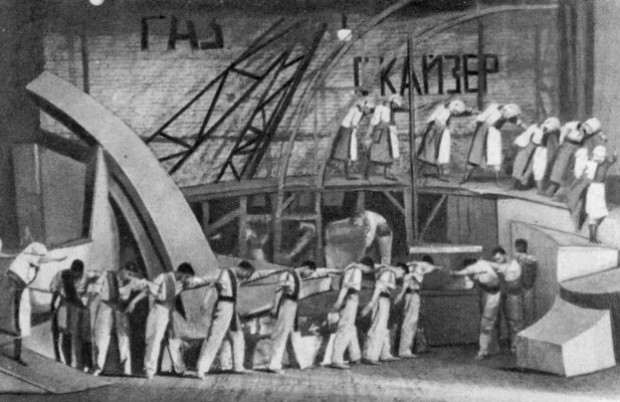 Image - A scene from the Berezil theatre production (1923) of Georg Kaiser, Gas I.