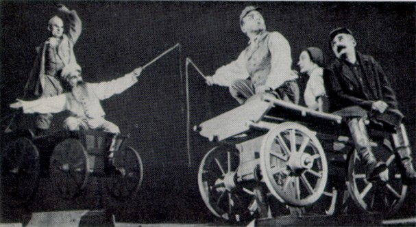 Image - A scene from Les Kurbas' production of Ivan Mykytenko's Dictatorship in the Berezil theater (1930).