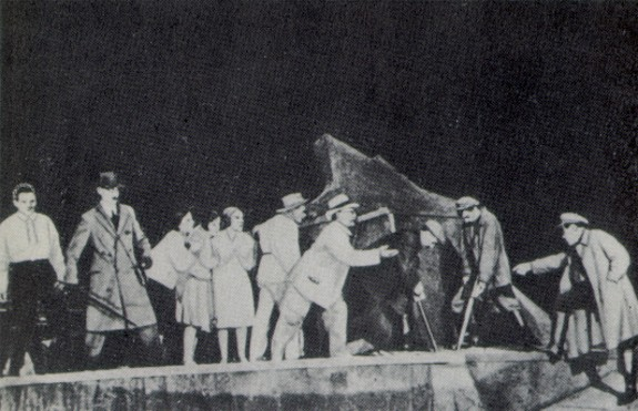 Image - Scene from the Berezil theatre's production October (1922).