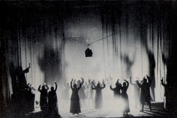 Image -- A scene from the Berezil production of Prologue by Stepan Bondarchuk and Les Kurbas (1927).