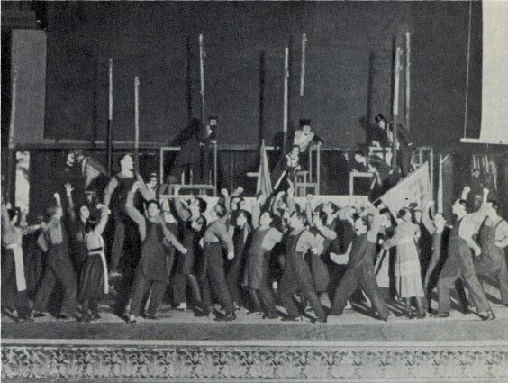 Image - Scene from the Berezil theatre's production (1923) of Upton Sinclair's Jimmy Higgins.