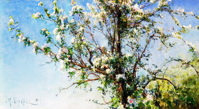 Image - Mykhailo Berkos: Apple Tree in Bloom (1919).