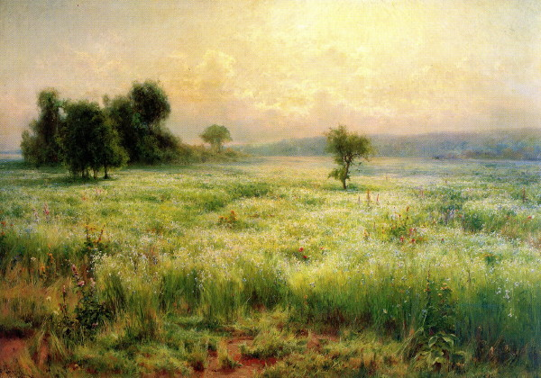 Image - Mykhailo Berkos: Flax in Bloom (1893).