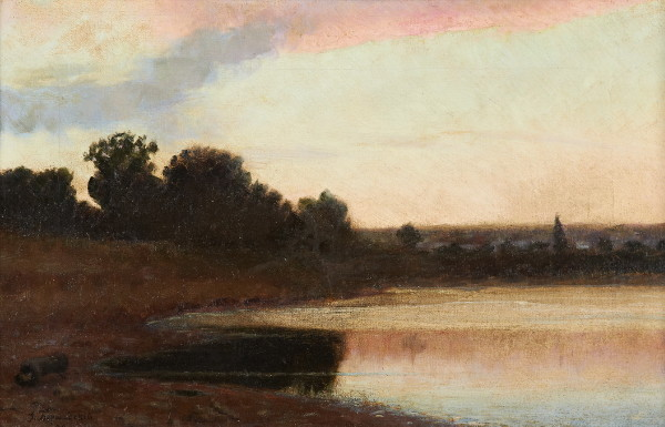 Image - Yuliian Bershadsky: At a Lake (1892).