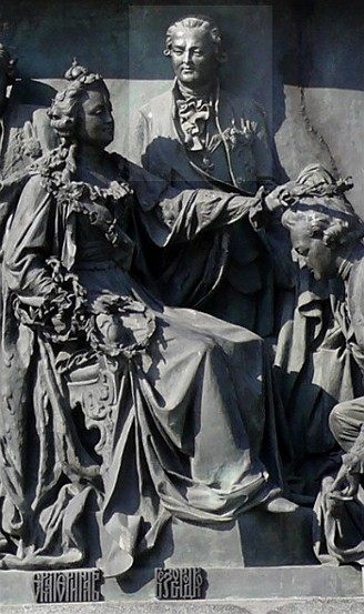 Image -  Oleksander Bezborodko on the monument commemorating the 1000 years of Russia.