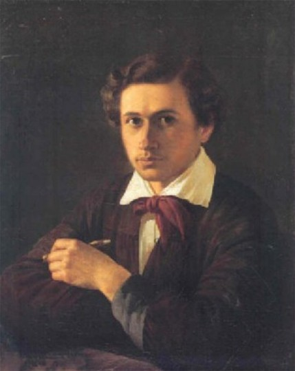 Image - Dmytro Bezperchy: Self-portrait (1846).