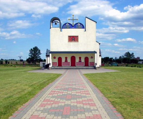 Image - Bialy Bor: Church of the Nativity of the Theotokos designed by Jerzy Nowosielski.