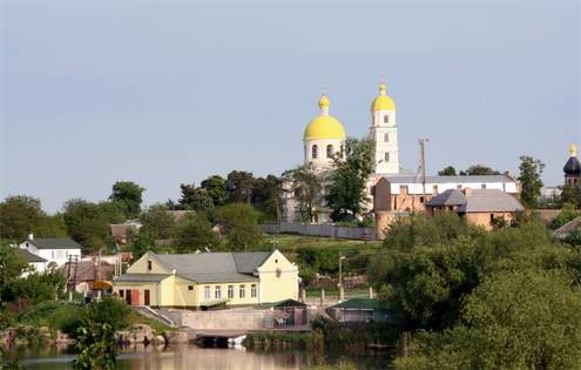 Image -- Bila Tserkva: City view with the Church of Saint Mary Magdalene in the distance.
