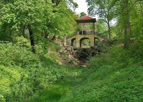 Image - Bila Tserkva: The Chinese Bridge in the Oleksandriia Dendrological Park.