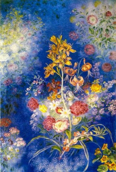 Image - Kateryna Bilokur: Flowers in Blue Jar (1942-43).