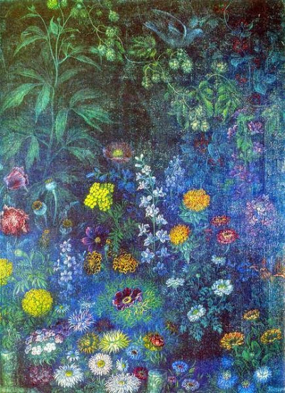 Image - Kateryna Bilokur: Flowers in the Evening (1942).
