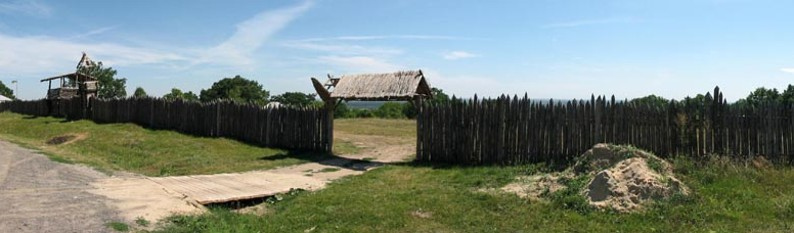 Image - The Bilsk fortified settlement (reconstructed fortifications).