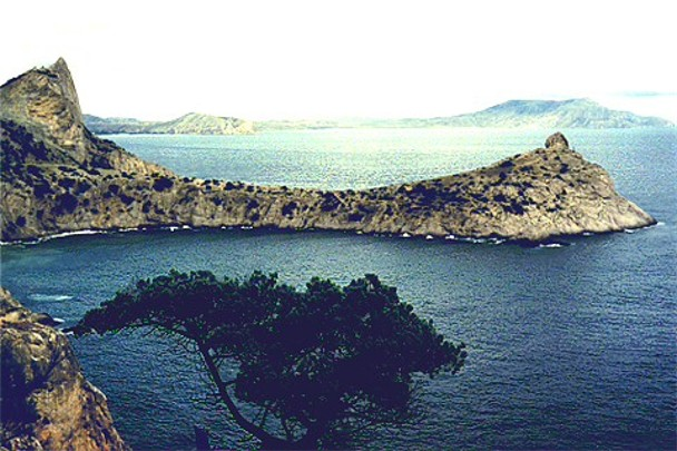 Image -- Black Sea: a cove near Sudak in the Crimea.