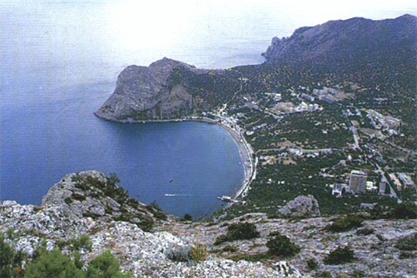 Image -- Black Sea: village of Novyi Svit near Sudak in the Crimea.