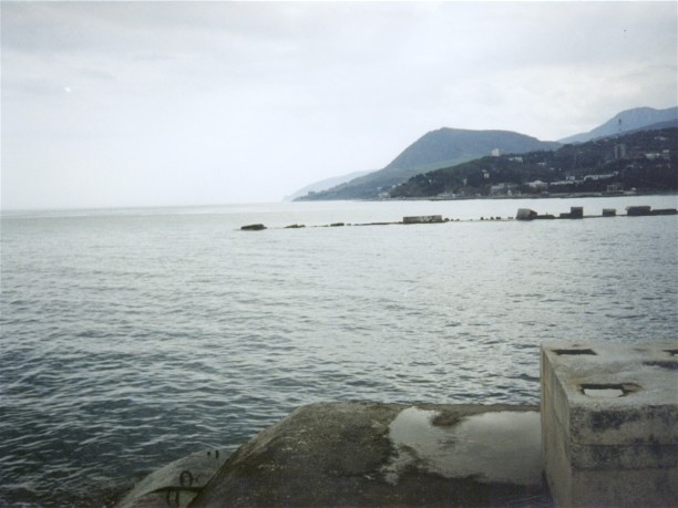 Image - Black Sea near Alushta in the Crimea.