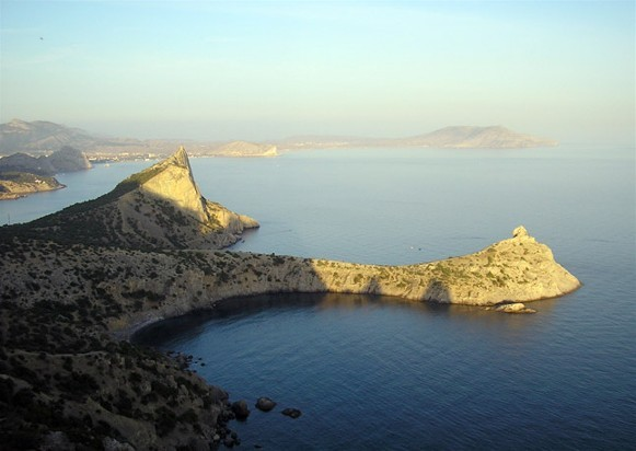 Image -- The Black Se shore in the Crimea.