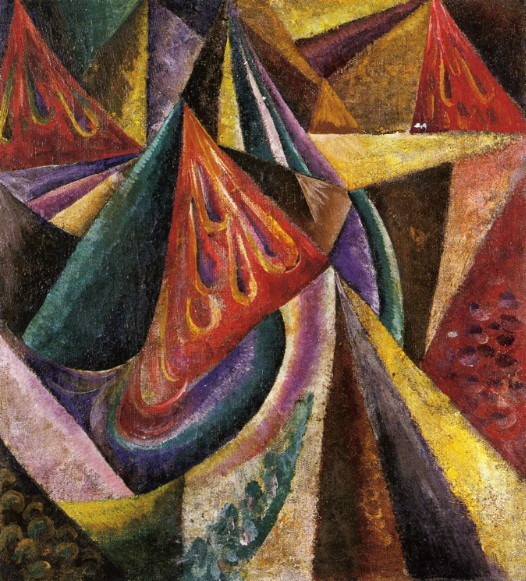 Image - Oleksander Bohomazov: An Abstract Composition (1914-15).