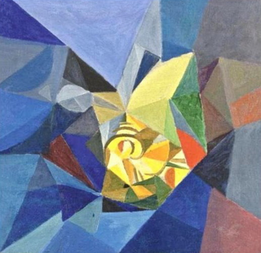 Image - Oleksander Bohomazov: Abstract Composition (1915).