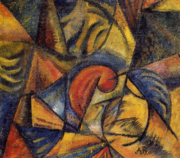 Image - Oleksander Bohomazov: An Abstract Composition (1915).