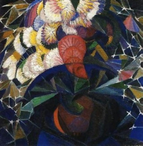 Image - Oleksander Bohomazov: An Arrangement of Flowers.