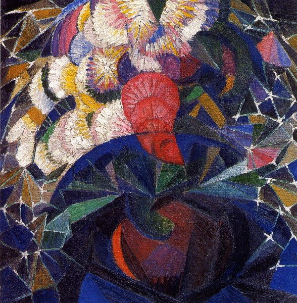 Image - Oleksander Bohomazov: A Bouquet of Flowers (1914-15).