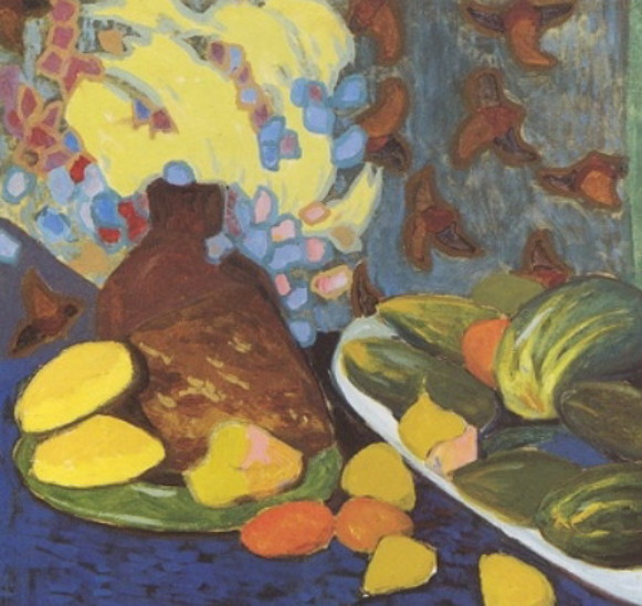 Image - Oleksander Bohomazov: Still Life with Vegetables and Fruits (1900s).