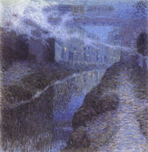 Image - Oleksander Bohomazov: The Bridge (1908).
