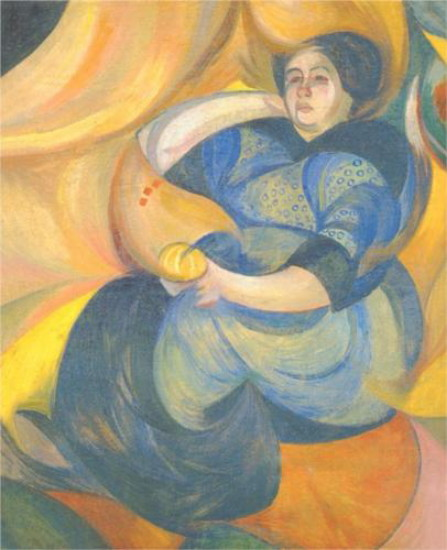 Image - Oleksander Bohomazov: Portrait of a Woman (1914).